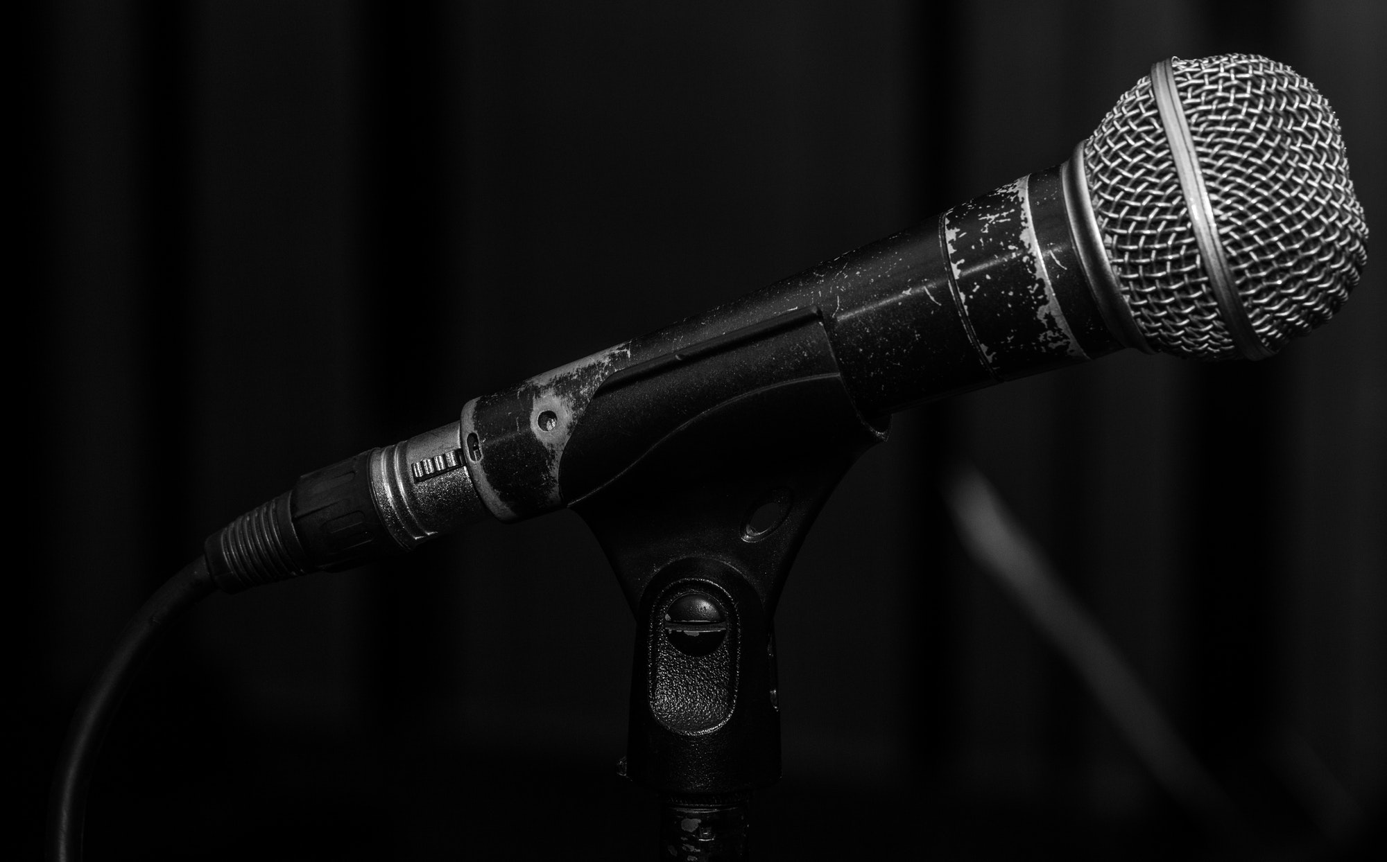 the old dynamic vocal microphone